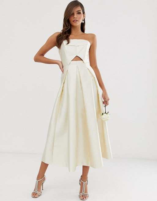 Asos Edition Structured Bandeau Wedding Dress