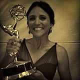 Julia Louis-Dreyfus happily snapped a photo with her new Emmy. Source: Instagram user hbo
