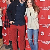Keri Russell and Bret McKenzie joked around on the red carpet at the Austenland premiere at Sundance.