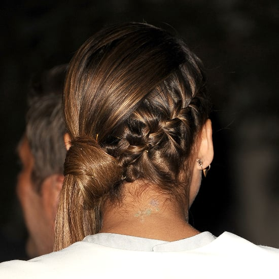 Jessica Alba's Braided Ponytail Tutorial