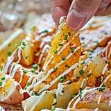 Cheesy Garlic Fries in Foil