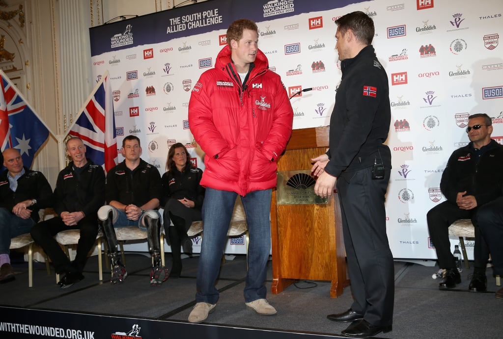 Prince Harry teamed up with Walking With The Wounded.