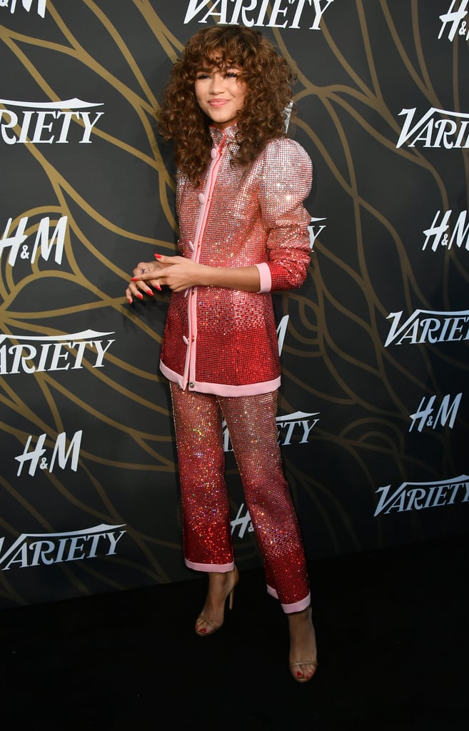 Zendaya Wearing Sparkly Pink Suit