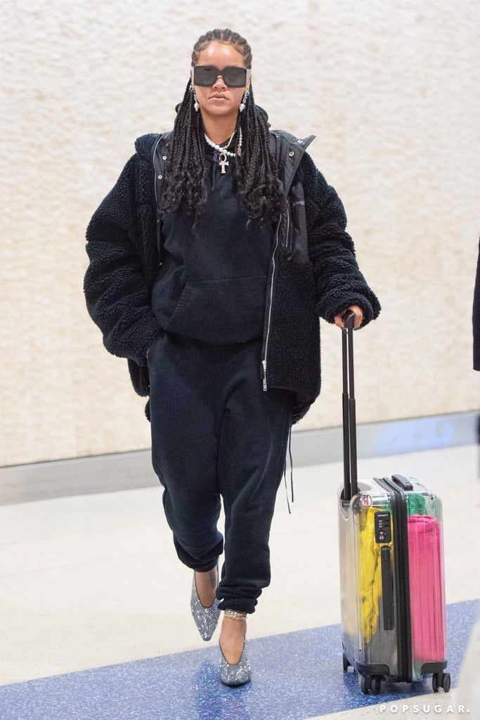 Rihanna at the Airport in NYC