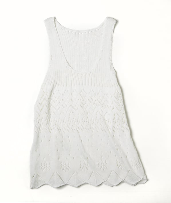 Alberta Ferretti for Macy's Impulse White Knit Sleeveless Top ($69)