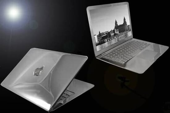 Diamond Studded MacBook Air Is Too Heavy to Carry Around