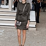 Alexa Chung looked prim and proper, with a hint of military chic, during Burberry's Spring '11 show.