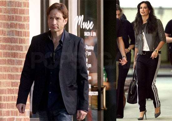 Photos of David Duchovny and Demi More Filming The Joneses in Atlanta