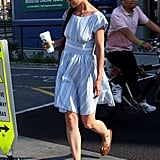 Katie Holmes dropped Suri Cruise off at Chelsea Piers in NYC.