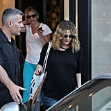Cameron Diaz and Drew Barrymore spent the afternoon together for Drew's final wedding dress fitting in LA.