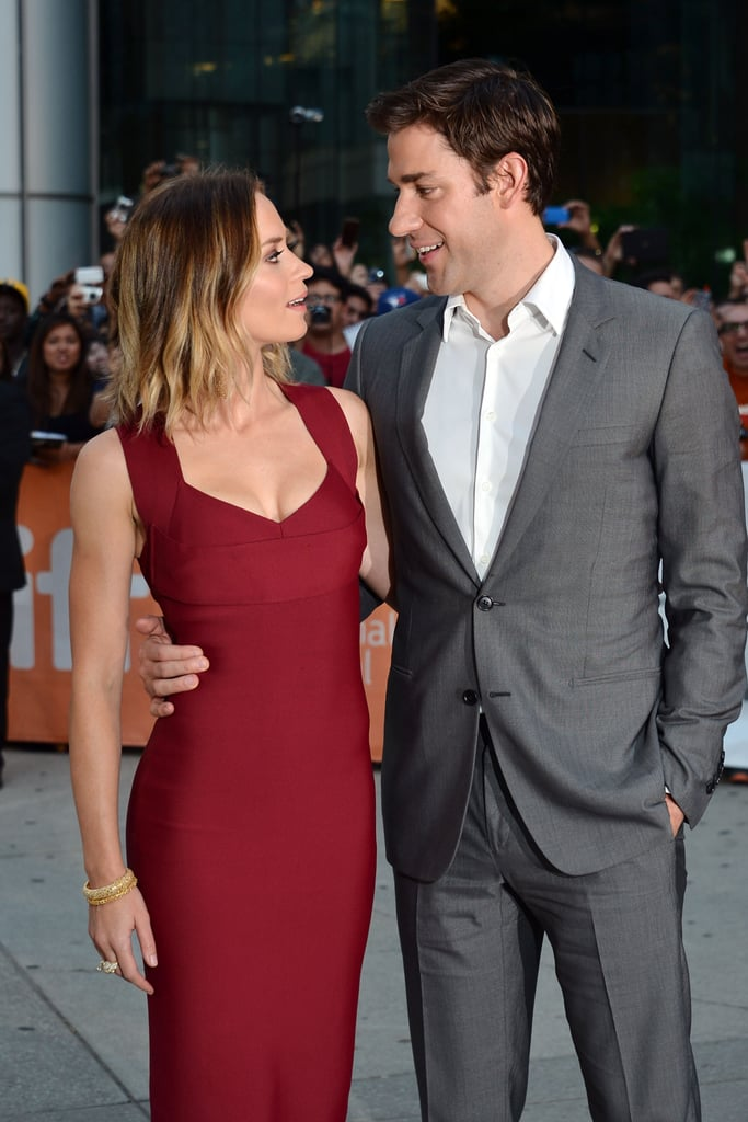 The couple couldn't keep their eyes off each other at the premiere of Looper at the Toronto Film Festival in 2012.