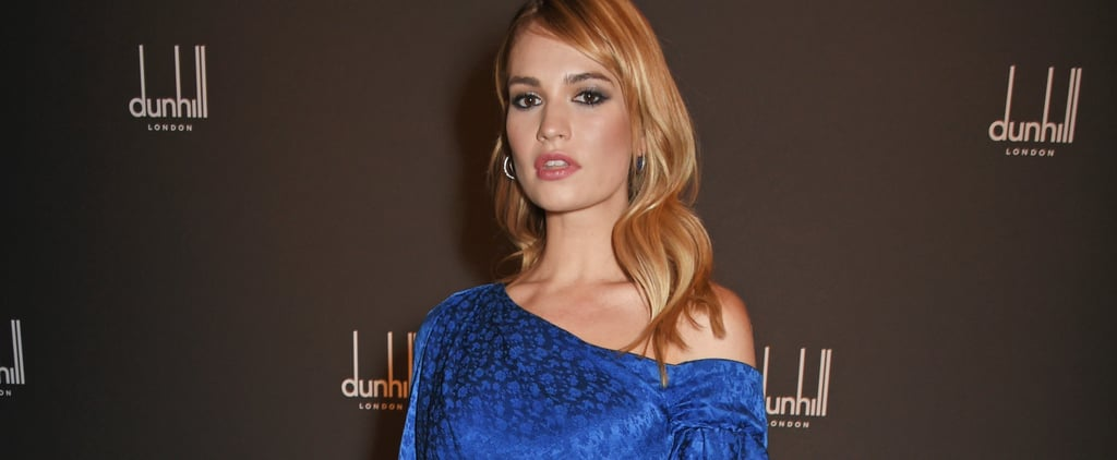 One Look at Lily James's Silky Dress Will Convince You She's a Mermaid