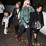 Gwen Stefani and Zuma Rossdale trick-or-treated in London.