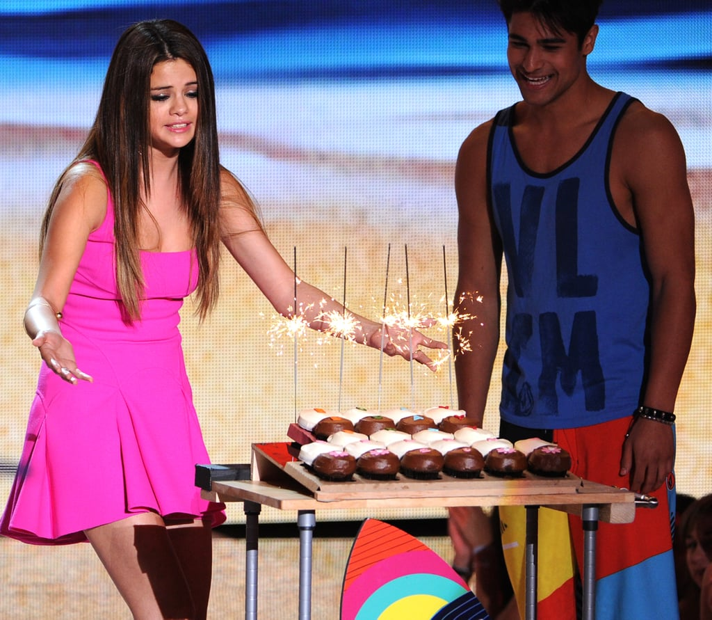 Selena Gomez celebrated her birthday at the 2012 show.