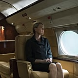Obviously, Claire travels in style (and we're not just talking about Air Force One).