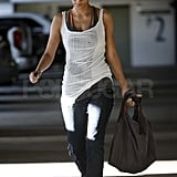 Halle Berry Steps Out in LA With a New Piece of Jewelry