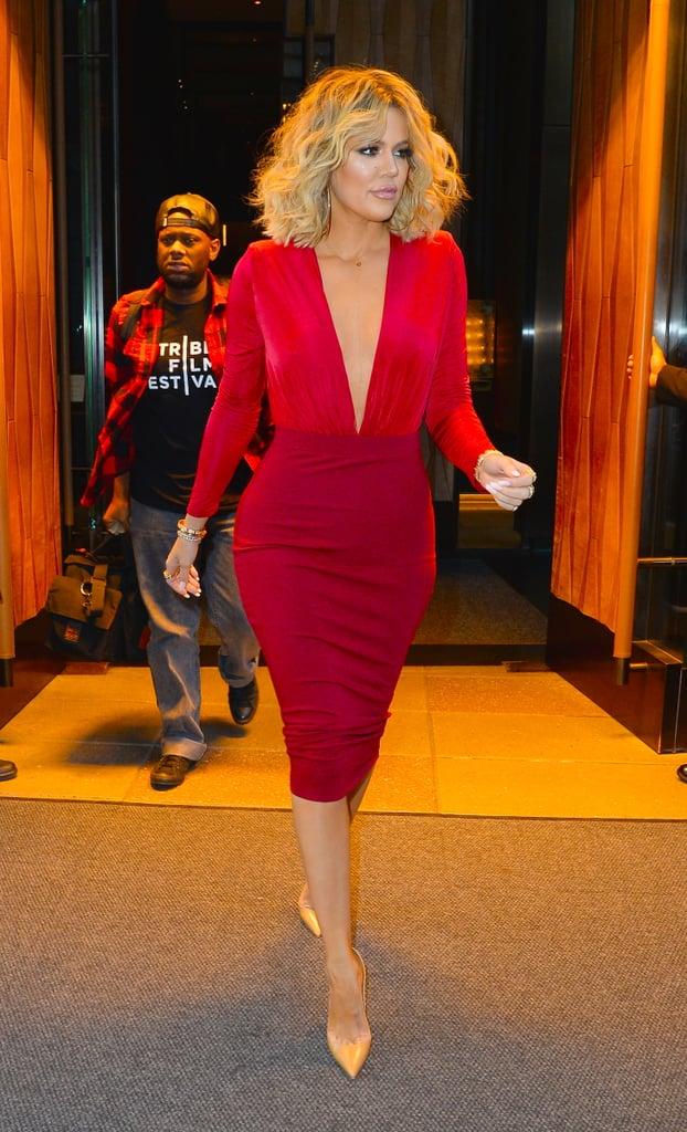 Khloe Kardashian Medium-Length Curls