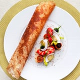 Indian Dosa, Marinated Gamberoni, Crunchy Vegetables Recipe