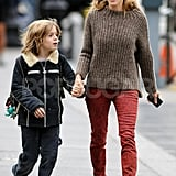 Sarah Jessica Parker and James Wilkie talked in NYC.