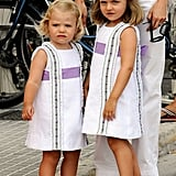Princess Leonor and Infanta Sofía in 2009