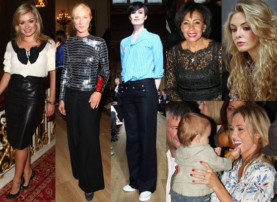 Photos Of Katherine Jenkins, Joely Richardson, Erin O'Connor, Jenny Frost, Shirley Bassey, Tamsin Egerton at London Fashion Week