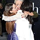 Emilia Clarke, Emma Thompson, and Michelle Yeoh at the Last Christmas Premiere