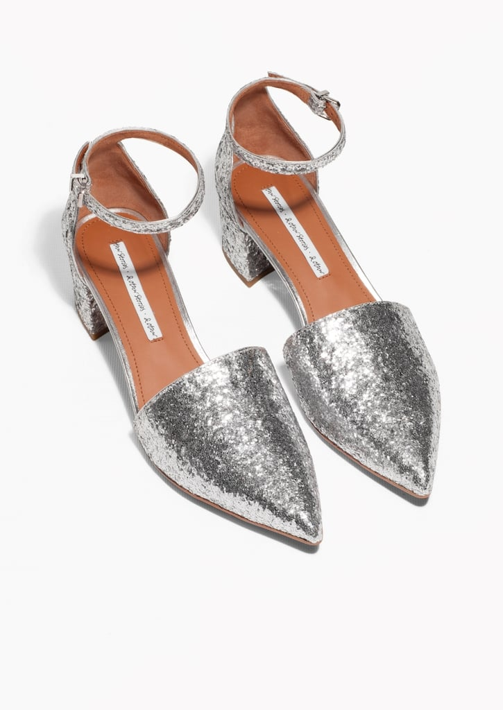 & Other Stories Silver Sequin Pumps