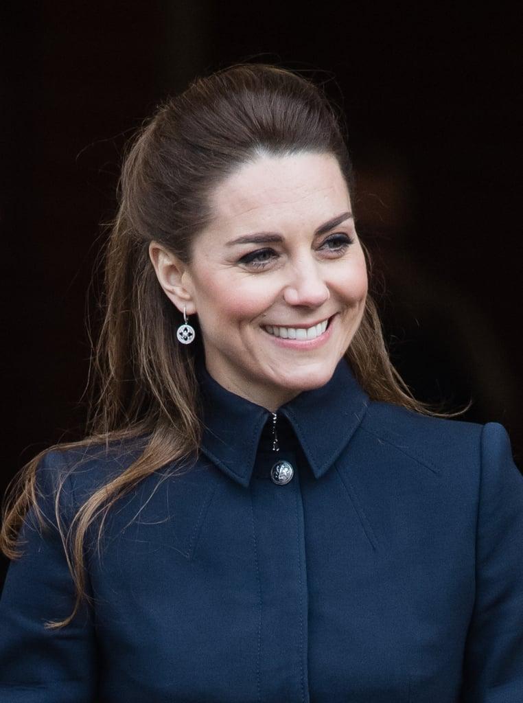 Kate Middleton's Sleek Half-Up Hairstyle, 2020