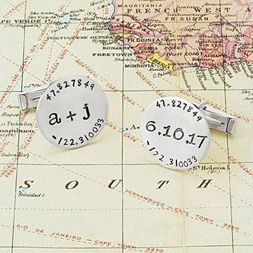 Latitude Longitude Cufflinks