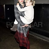 Gwen Stefani Has Her Arms Full With Kingston as They Head Home