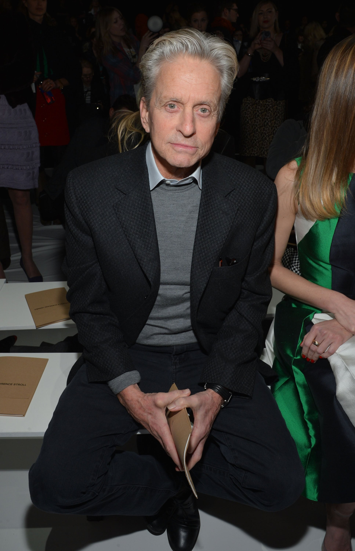 Michael Douglas took a front-row seat at Michael Kors.