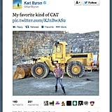 Kari Byron of MythBusters is kind of a CAT lady.