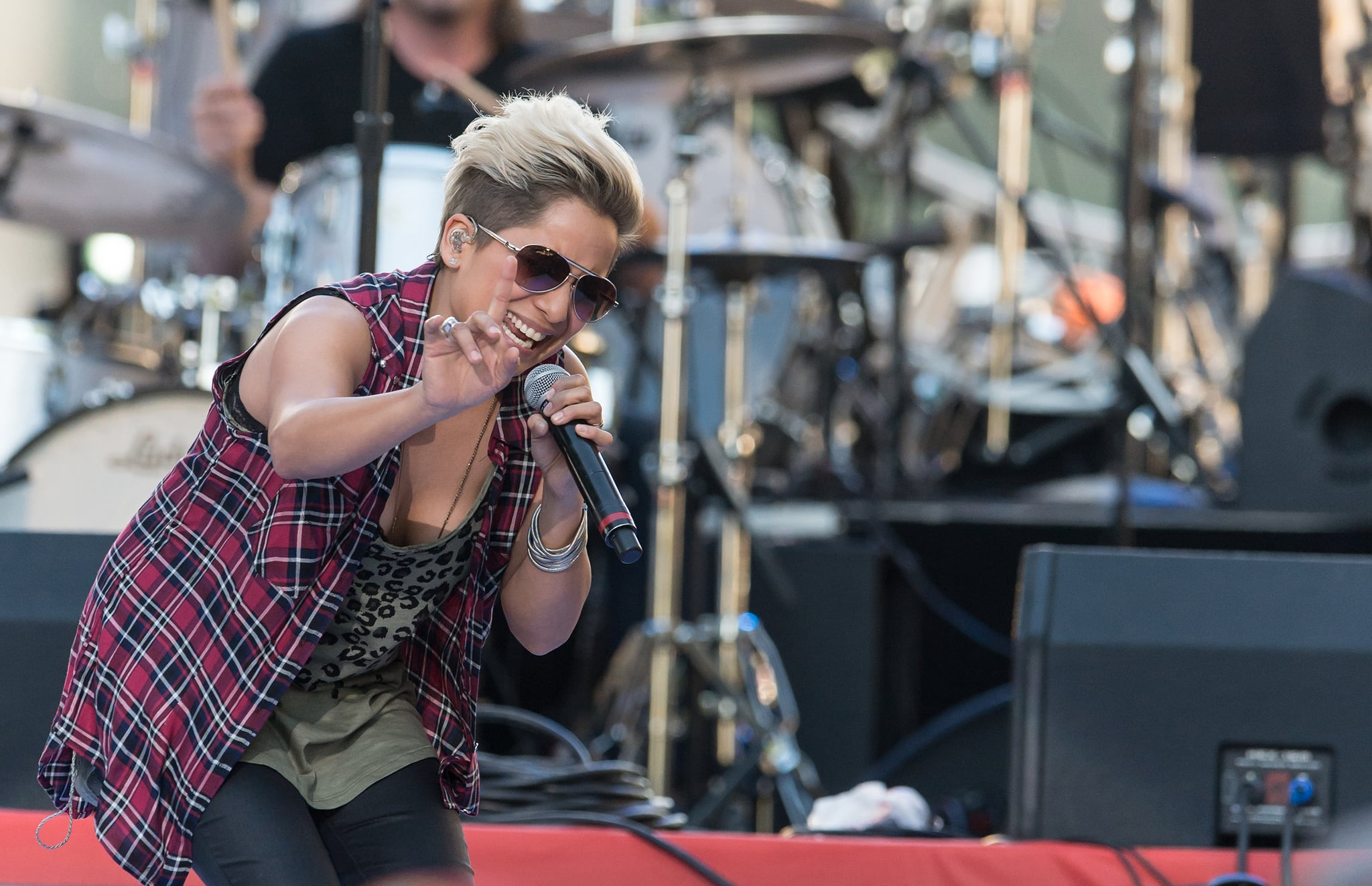 PHILADELPHIA, PA - JULY 04:  Singer Vicci Martinez performs during the 2014 Philly 4th Of July Jam>on July 4, 2014 in Philadelphia, Pennsylvania.  (Photo by Gilbert Carrasquillo/Getty Images)