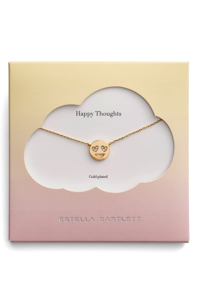 Estella Bartlett Happy Thoughts Emoji Necklace