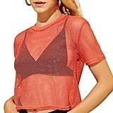 Amazon Women's Fishnet Crop Top