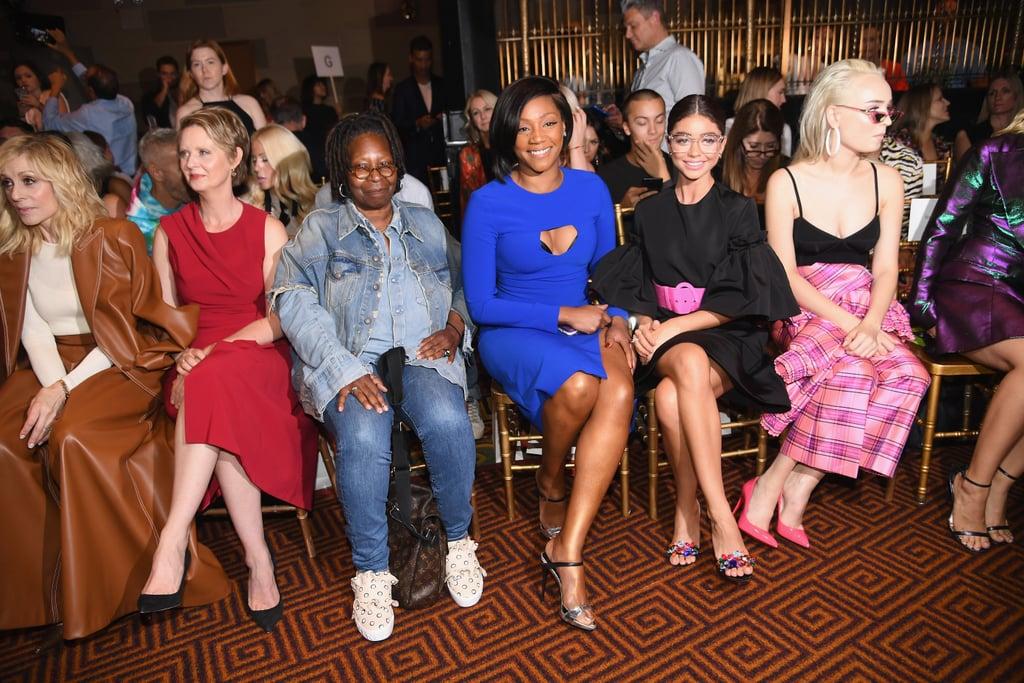 Pictured: Judith Light, Cynthia Nixon, Whoopi Goldberg, Tiffany Haddish, Sarah Hyland, and Kim Petras