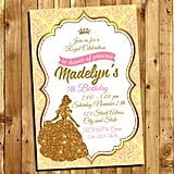 Gold Beauty and the Beast Invitations