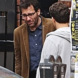 Clive Owen shot a crying scene for his film Words and Pictures in Vancouver on Monday.