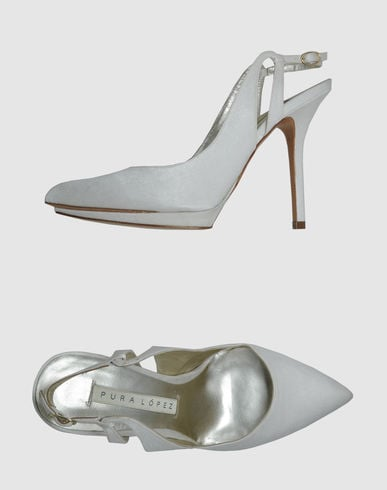 We love that the feel is classic, with just a simple update via a platform and slingback.  Pura Lopez Slingbacks ($125)