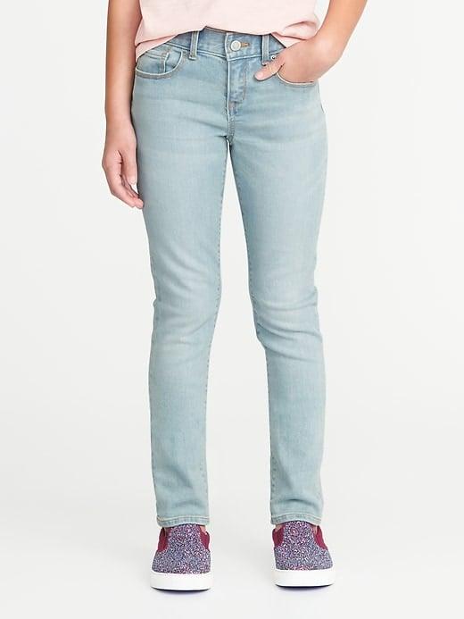 Skinny Light-Wash Jeans For Girls