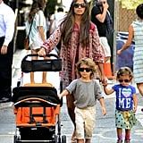 Camila Alves took her kids, Vida and Levi, for a walk around NYC.