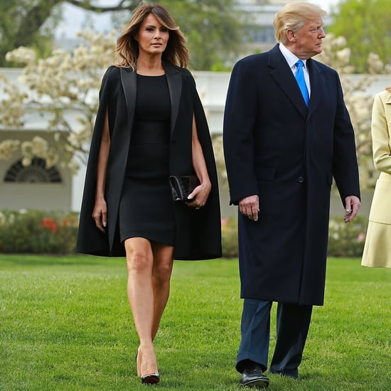 Melania Trump's Black Givenchy Cape