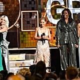Pictured: Alicia Keys, Lady Gaga, Jada Pinkett Smith, Michelle Obama, and Jennifer Lopez