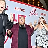 Matthew Noszka, Jacob Batalon, and Kiernan Shipka at the Let It Snow Premiere