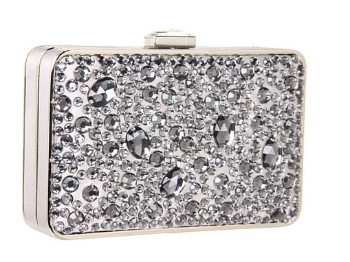 This jeweled box clutch by Franchi ($190) is the epitome of mesmerizing — it also comes in gold.