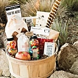Snack-filled welcome baskets