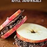 Chocolate Almond Apple Sandwiches
