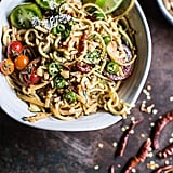 Fiery Schezwan Peanut and Chili Zucchini Noodles