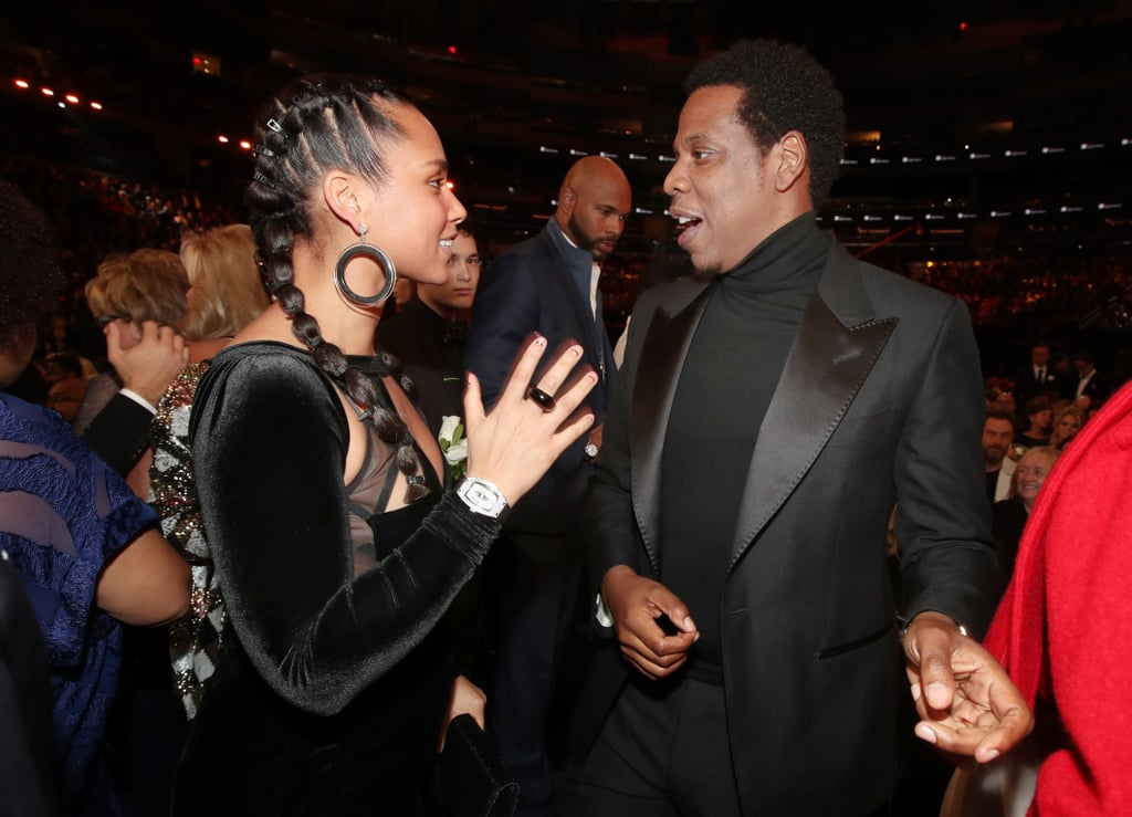 Pictured: Alicia Keys and JAY-Z
