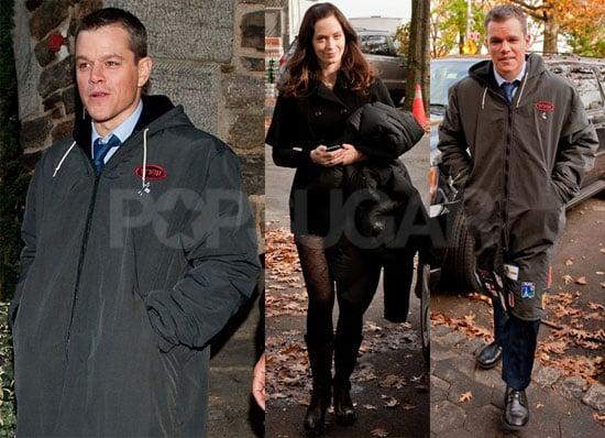 Photos of Matt Damon and Emily Blunt Filming The Adjustment Bureau in NYC
